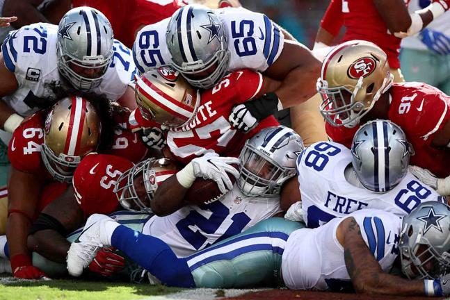 Dallas se impuso 24-17 a los San Francisco 49ers. Foto: Getty Images