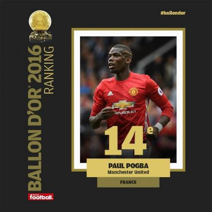 14º - Paul Pogba (Manchester United/Francia)
