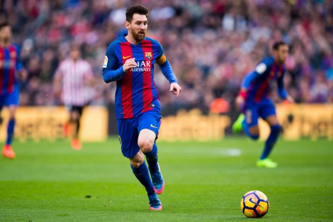 <strong>9. Lionel Messi (Barcelona)</strong> Foto: Getty