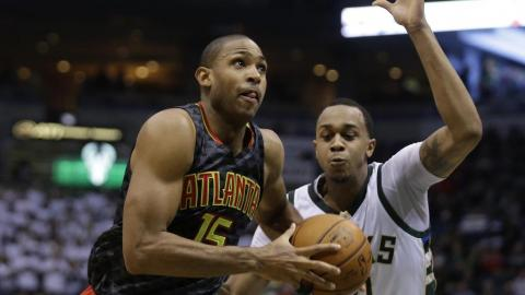 Al Horford #15 of the Atlanta Hawks drives to the hoop for two points during the second quarter against the Milwaukee Bucks at BMO Harris Bradley Center on January 15, 2016 in Milwaukee, Wisconsin. Getty Images