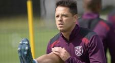 Javier Chicharito Hernandez of West Ham United during training at Rush Green on August 24, 2017 in Romford, England.  (Getty Images)