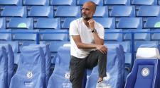 Pep Guardiola, Manager of Manchester City at Stamford Bridge on June 25, 2020 in London, United Kingdom. (Getty Images)