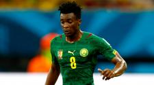 Benjamin Moukandjo of Cameroon controls the ball during the 2014 FIFA World Cup Brazil Group A match between Cameroon and Croatia at Arena Amazonia on June 18, 2014 in Manaus, Brazil. (Getty Images)